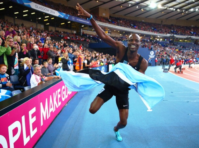 Glasgow 2014 800m champion Nijel Amos will receive Olympic Solidarity funding ©Getty Images