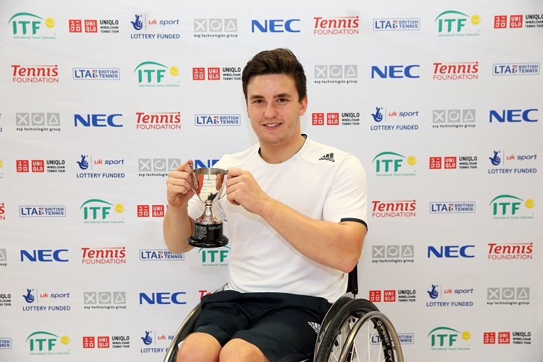 Gordon Reid has defended his men's singles title at the Nottingham Indoor Wheelchair Tennis Tournament ©The Tennis Foundation