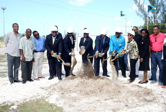 Ground has been broken on a new baseball stadium in the Bahamas ©BIS photo