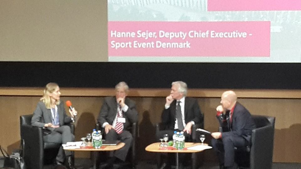 Hanne Sejer (left), deputy chief executive of Sport Event Denmark, was speaking at the Smart Cities & Sport Summit in Lausanne ©ITG