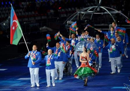 Ilham Zakiyev, Azerbaijan's Flagbearer at the London 2012 Paralympic Games, should be among the visually impaired judoka competing at Baku 2015 ©Getty Images
