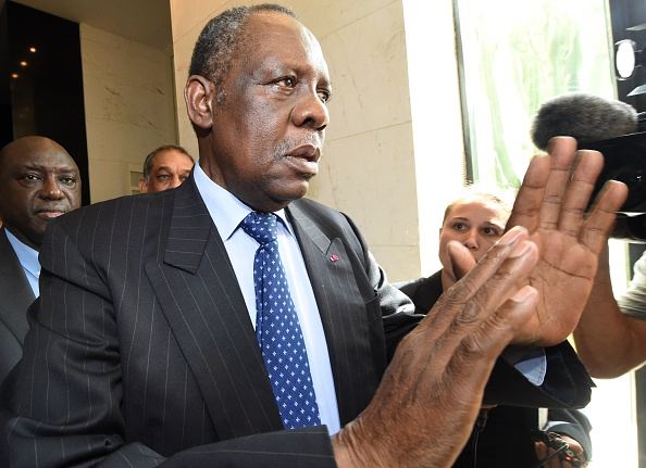 Issa Hayatou, President of the Confederation of African Football, leaves his hotel ahead of the meeting in Rabat today ©Getty Images