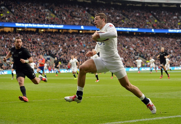 Jonny May's try for England against New Zealand in November is on the shortlist ©Getty Images