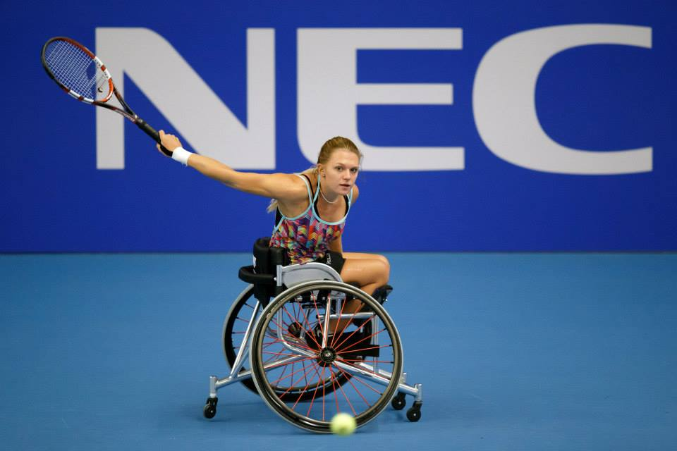 Jordanne Whiley has continued her amazing year with a top seed defeat on day one of the Wheelchair Tennis Masters ©NEC Wheelchair Tennis Masters/Facebook