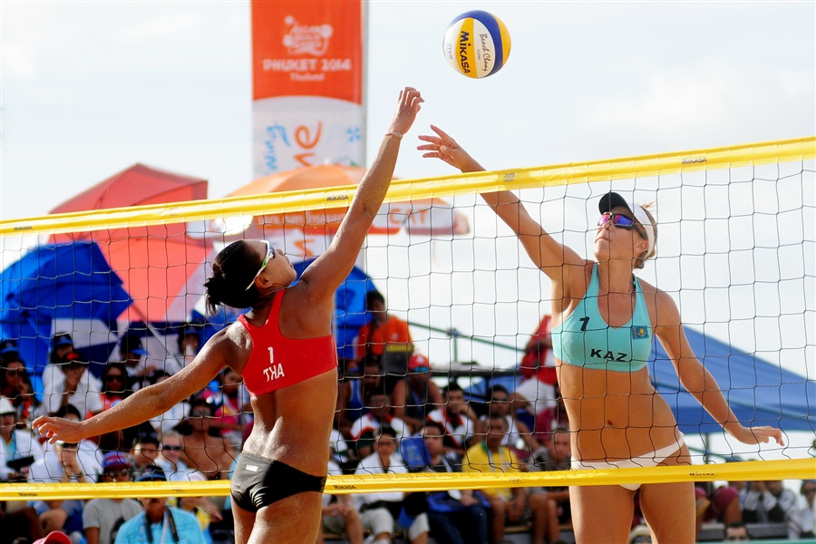 Kazakhstan hone in on the final gold medal of Phuket 2014 - in women's beach volleyball ©Phuket 2014