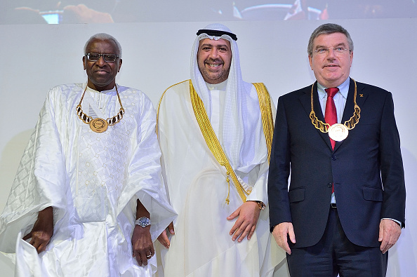Lamine Diack and Thomas Bach have each been awarded ANOC Merit Awards ©Getty Images