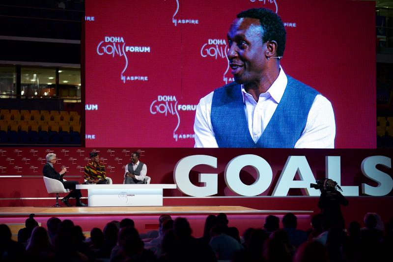 Linford Christie believes the new generation of athletes are not as durable as those of the past ©DohaGOALS Forum