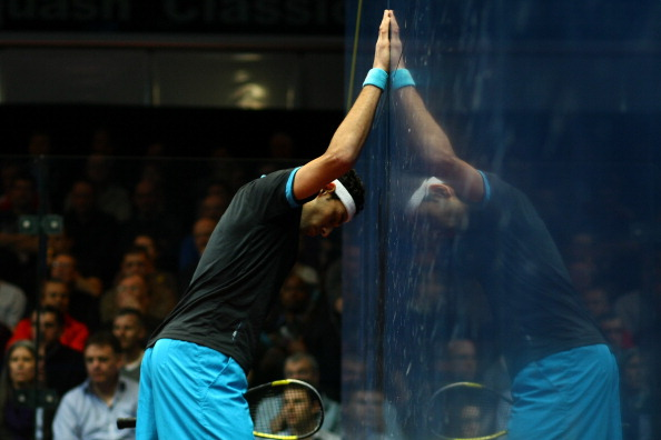 Mohamed Elshorbagy pushed Ramy Ashour all the way but narrowly lost out ©Getty Images