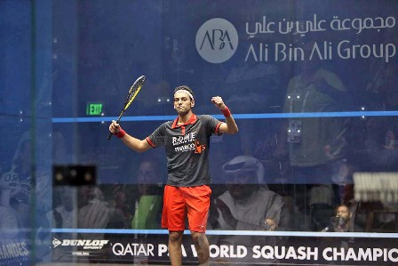 Mohamed Elshorbagy will meet fellow Egyptian Ramy Ashour in the PSA World Championship final ©PSA