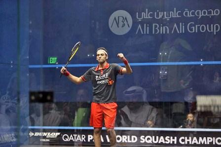 Mohamed Elshorbagy will meet fellow Egyptian Ramy Ashour in the PSA World Championship final ©PSA