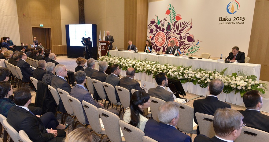More than 100 delegates from 60 countries have been in Baku today as the Baku 2015 European Games hosted a diplomatic briefing ©Baku 2015