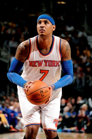 New York Knicks' Carmelo Anthony is likely to be in action at the O2 arena on January 15 ©NBAE/Getty Images