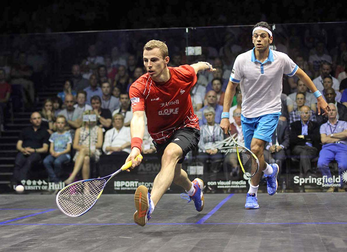 Nick Matthew is to face current world number one Mohamed El Shorbagy in the semi-finals of this year's Professional Squash Association World Championship ©PSA