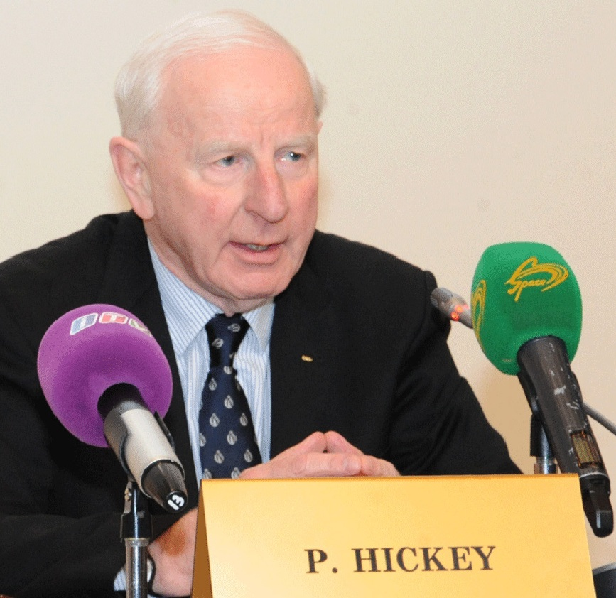 European Olympic Committees President Patrick Hickey is confident Armenia will take place in Baku 2015 ©ITG
