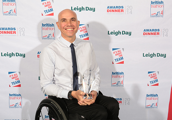 Phill Hogg picked up the British Male  Para-triathlete of the Year award ©British Triathlon