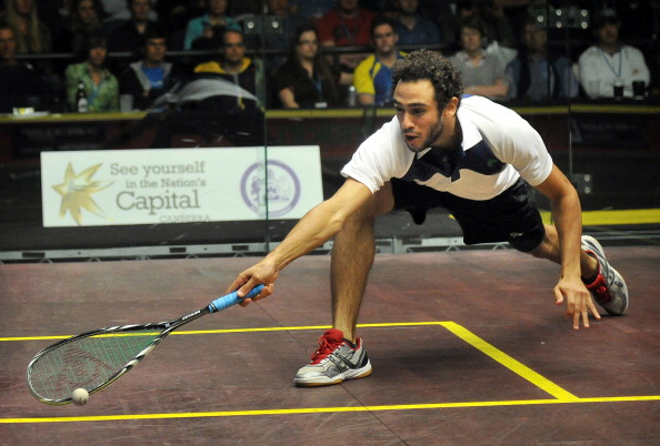 Ramy Ashour will go head to head with Grégory Gaultier in their PSA World Championship semi-final ©Getty Images