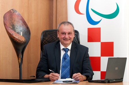 Ratko Kovačić, President of the Croatian NPC, says the organisation is lucky to have Allianz as a partner ©Croatian NPC