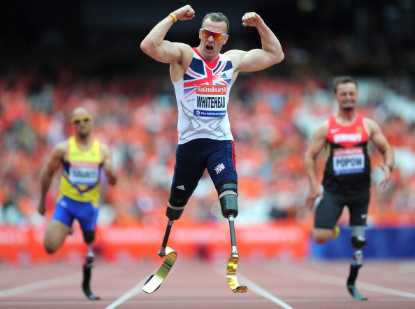 Richard Whitehead has given enouragement to patients who have lost limbs in the Syrian conflict ©Getty Images