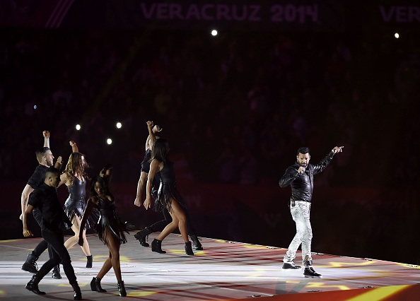 Ricky Martin was one of the stars of the show at the Veracruz 2014 Opening Ceremony ©Getty Images