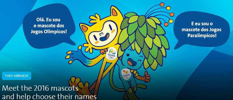 The public are to be given the chance to vote on the names for the Rio 2016 mascots ©Rio 2016