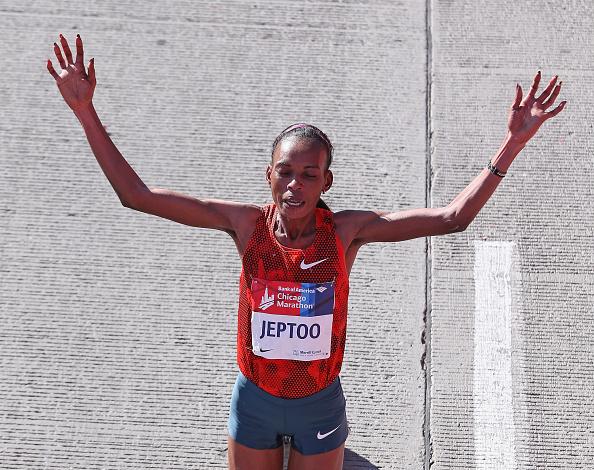 Rita Jeptoo tested positive for erythropoietin prior to her victory at the Chicago Marathon in October ©Getty Images