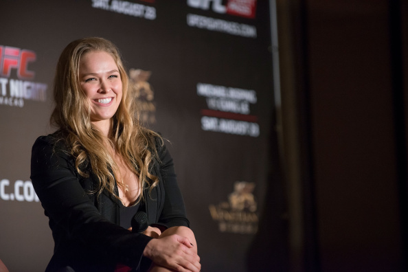 Ronda Rousey, an Olympic bronze medallist in judo, signed a contract with UFC in 2012 ©Getty Images