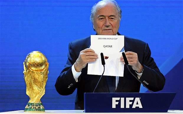 Sepp Blatter reads out Qatar to host World Cup