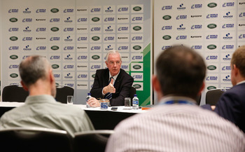 Sir Craig Reedie was speaking at the IRB World Rugby ConfEx ©Getty Images