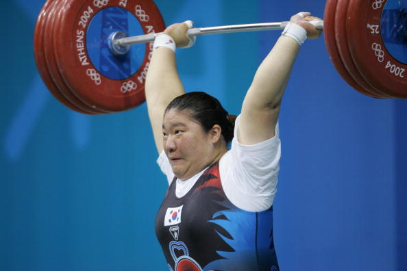 South Korea's Jang Mi-ran was left disappointed by a judging decision at the 2004 Olympics in Athens ©Getty Images