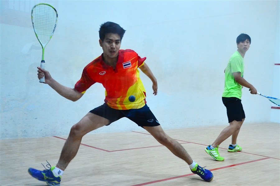 Squash action on an innovative glass court at the Asian Beach Games has highlighted the versatility of the sport ©Phuket 2014