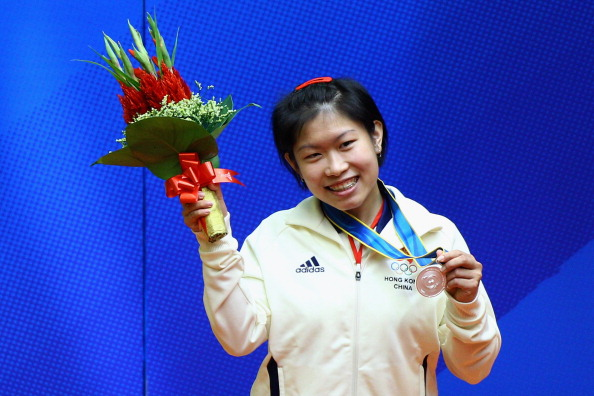 Squash player Annie Au Wing Chi, a former awardee, was in attendance ©Getty Images