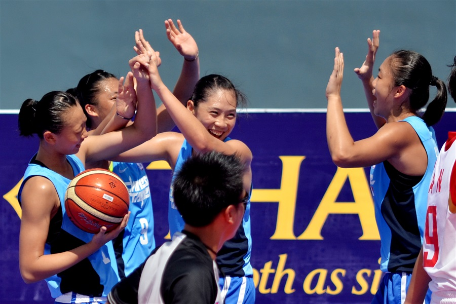 Taiwan were slightly more comfortable winners over China in the women's competition ©Phuket 2014