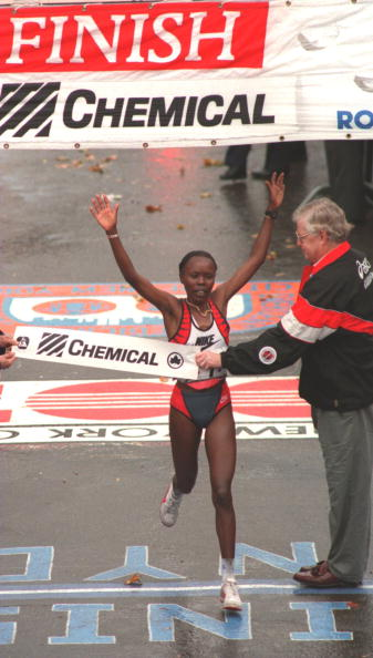 Kenya's Tegla Loroupe won the New York City Marathon in 1994 - the first African women to win the event, launching her on the world stage  ©Getty Images