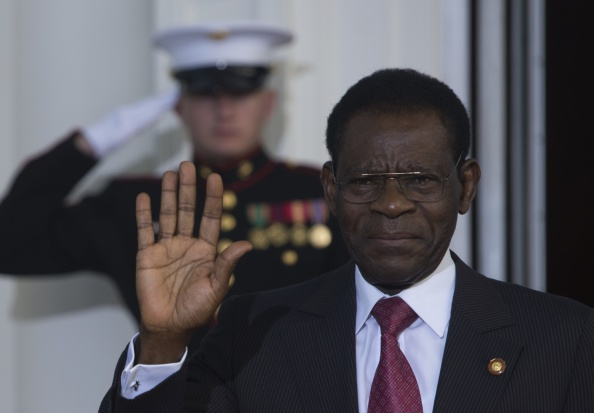 Teodoro Obiang, President of Equatorial Guinea, met with Issa Hayatou, President of CAF, today ©Getty Images