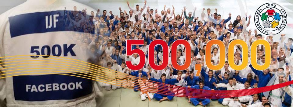 The International Judo Federation has reached the 500,000 Facebook fans milestone ©IJF/Facebook