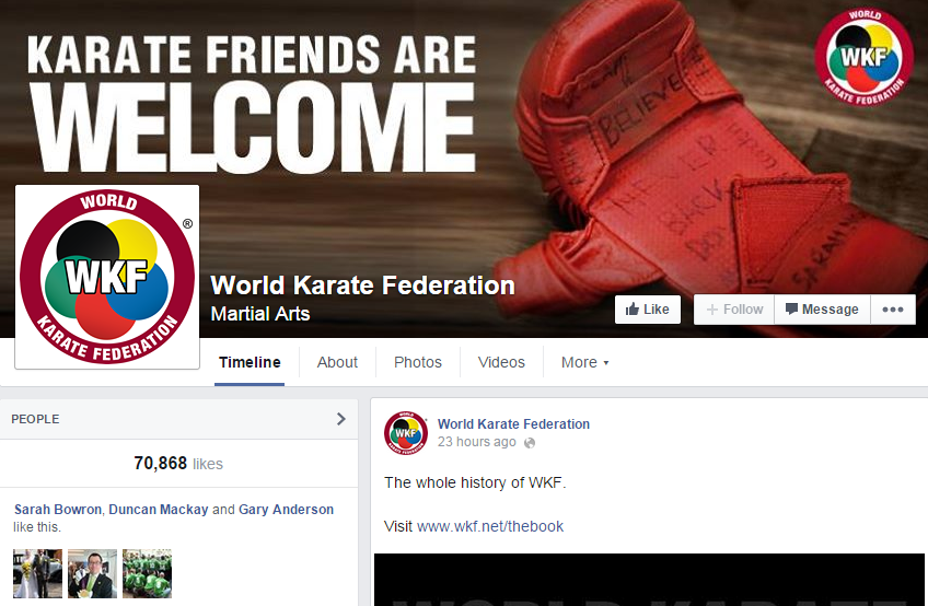 The WKF enjoyed unprecedented interest on its Facebook page during the Championships ©Facebook