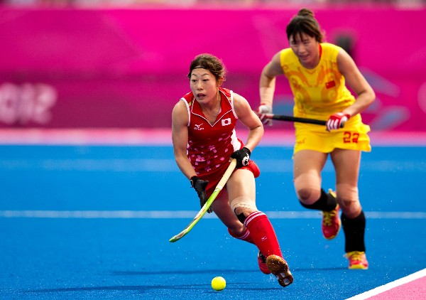The distinctive blue Poligras playing surface was synonymous with the London 2012 Olympic and Paralympic Games ©FIH