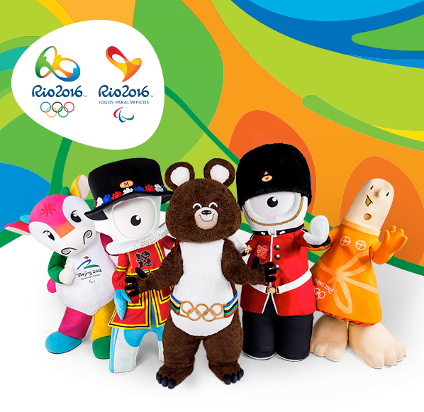 The mascots from Moscow 1980, Athens 2004, Beijing 2008 and London 2012 will be flying to Rio de Janeiro ©Rio 2016