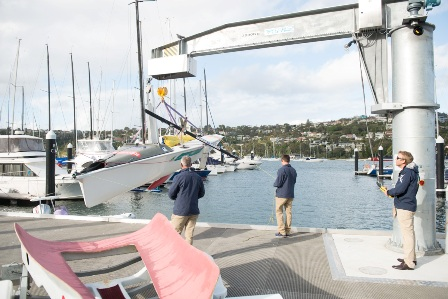 The new deck includes a crane which will help wheelchair athletes to access their boats ©Australian Sailing & Yachting Australia