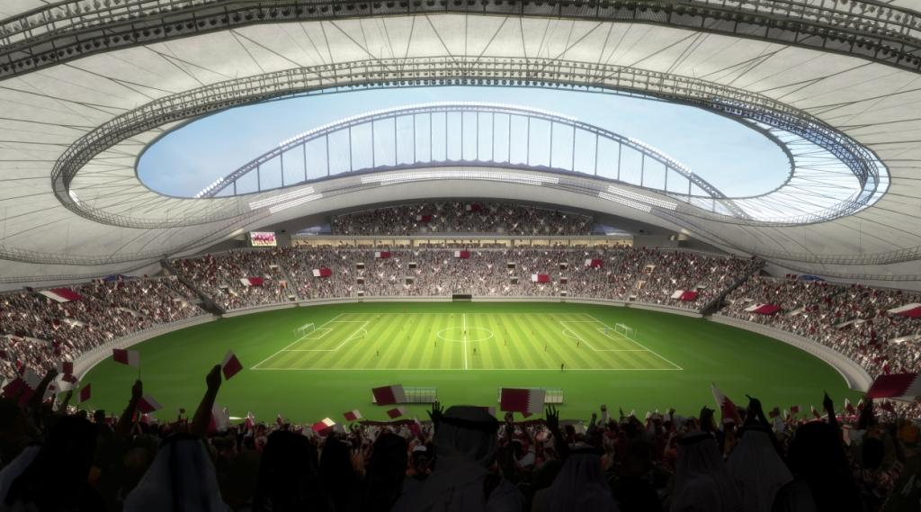 The new plans for the Khalifa International Stadium will see the removal of the athletics track for the 2022 FIFA World Cup and an increase of capacity to 40,000 seats ©Qatar 2022