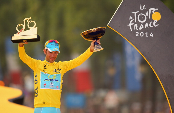 The team of 2014 Tour de France winner Vincenzo Nibali, Astana, has now had five connections to failed doping tests ©Getty Images