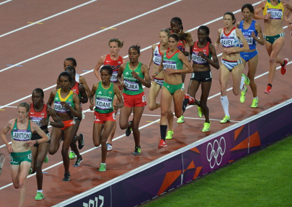 The women's 10,000m final, won by Tirunesh Dibaba of Ethiopia in the evening at London 2012, will be the first morning final in the Stadium at Rio 2016 ©AFP/Getty Images