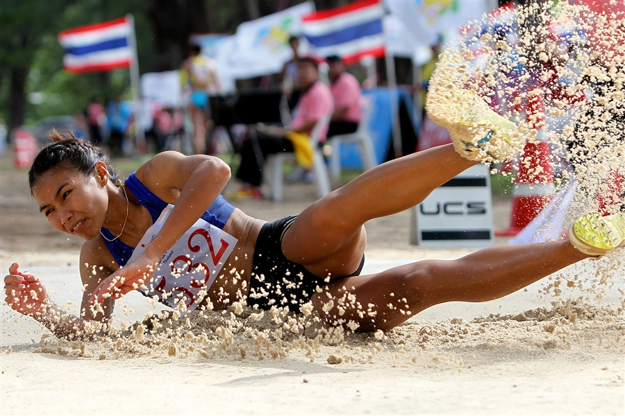 There was more success for Thailand in beach athletics as Thitima Muangjan won the long jump ©Phuket 2014