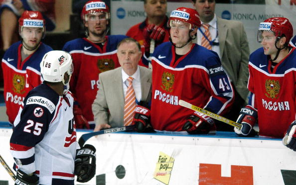 Viktor Tikhonov last coached the Russian national squad at the 2004 World Championship in the same year he retired ©Getty Images