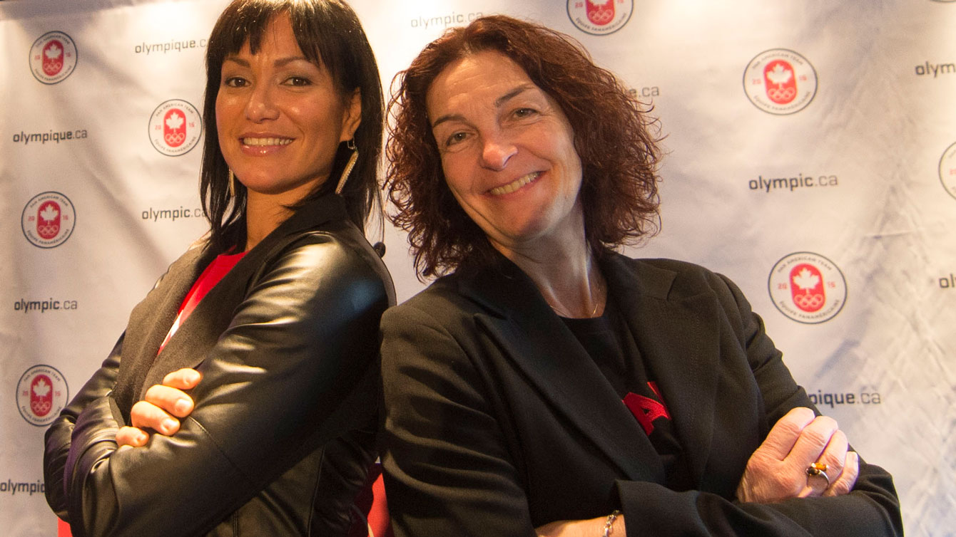 Waneek Horn-Miller and Josée GrandMaître have been named assistant Chef de Missions for Team Canada at the Toronto 2015 Pan American Games ©COC