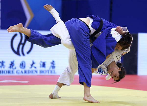 Yarden Gerbi secured gold on the second day of the IJF Judo Grand Prix in Qingdao ©IJF