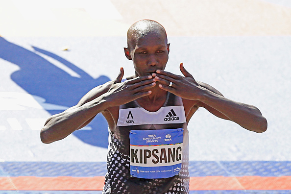 Wilson Kipsang wins the NYC 2014 Marathon ©Getty Images