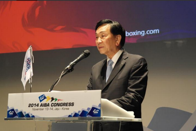 C K Wu has been re-elected for a third four-year term as President of AIBA ©AIBA