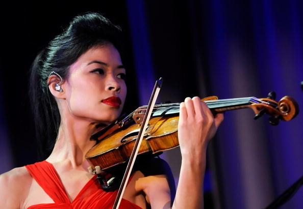 On the fiddle - International violinist Vanessa Mae received a four-year suspension this week from the International Ski Federation after the races in which she qualified for Sochi 2014 were shown to have been fixed ©Getty Images