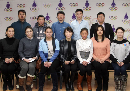 A Ceremony has taken place to award Mongolian Olympic Solidarity Scholarships for Rio 2016 ©Mongolia NOC